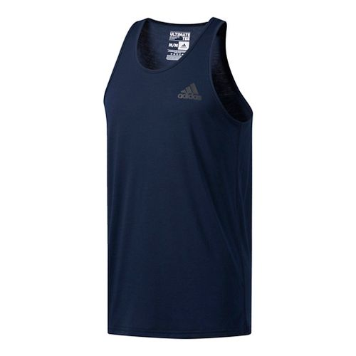 Mens Adidas Ultimate Sleeveless & Tank Tops Technical Tops - Medium Grey Heather XL