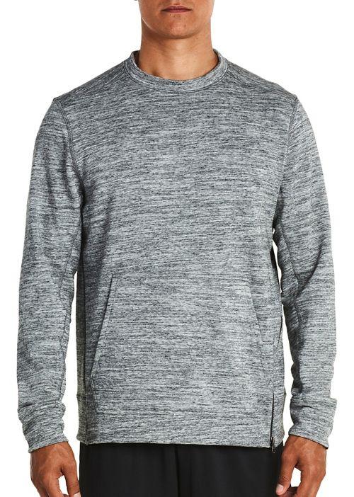 Mens Saucony Kineta Pullover Long Sleeve Technical Tops - Grey Heather XL