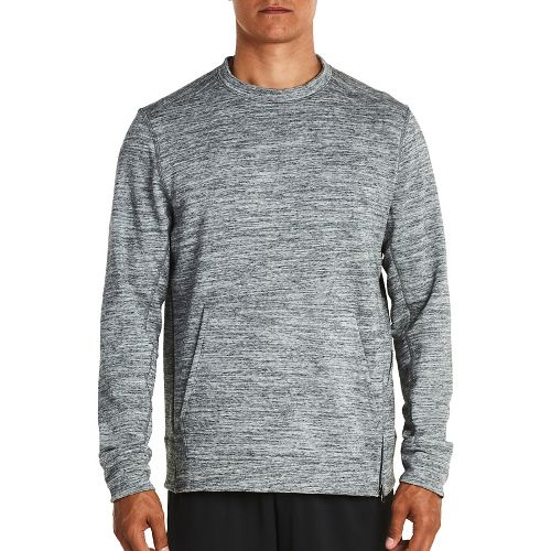 Mens Saucony Kineta Pullover Long Sleeve Technical Tops - Grey Heather S