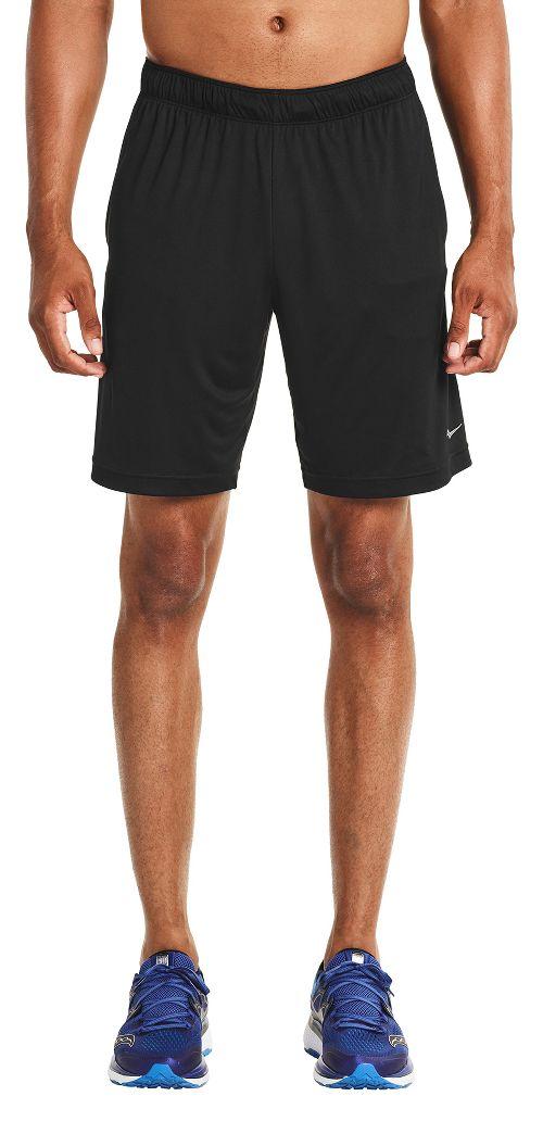 Mens Saucony Outkickin' Knit Unlined Shorts - Black L