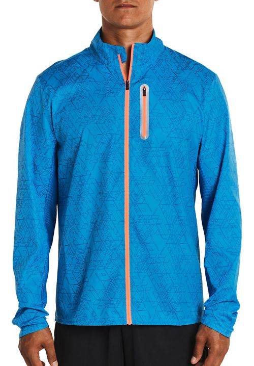 Mens Saucony Speed Of Lite Running Jackets - Brilliant Blue L