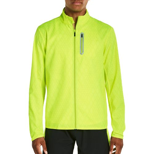 Mens Saucony Speed Of Lite Running Jackets - VIZiPRO Citron XL