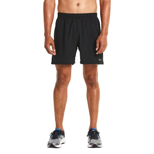 Mens Saucony Throttle Lined Shorts - Black Emboss L