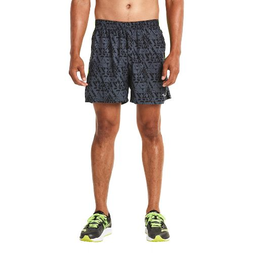 Mens Saucony Throttle Lined Shorts - Carbon S