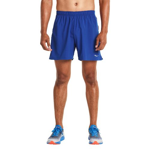 Mens Saucony Throttle Lined Shorts - Varsity Blue XXL