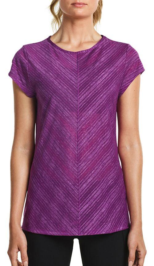 Womens Saucony Breeze Short Sleeve Sleeveless & Tank Tops Technical Tops - Dahlia S