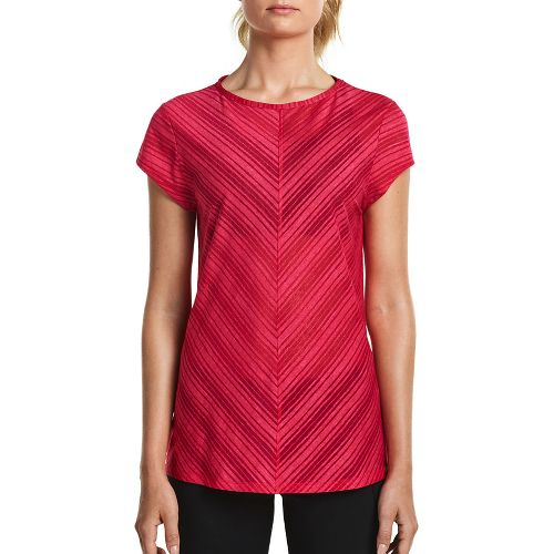 Womens Saucony Breeze Short Sleeve Sleeveless & Tank Tops Technical Tops - Raspberry L
