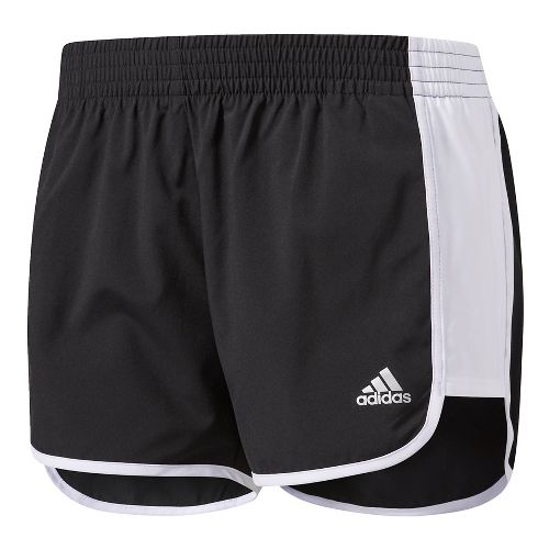 Womens Adidas 100M Dash Woven Lined Shorts - Black/White S