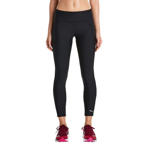 Womens Saucony Bullet Crop Tights - Black XS