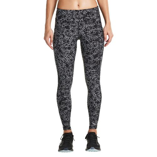 Womens Saucony Bullet Crop Tights - Black Print M