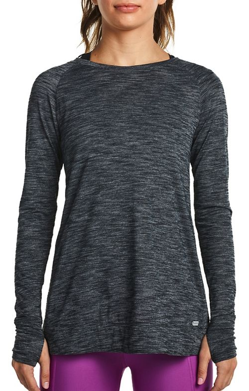 Womens Saucony Carefree Long Sleeve Technical Tops - Carbon S