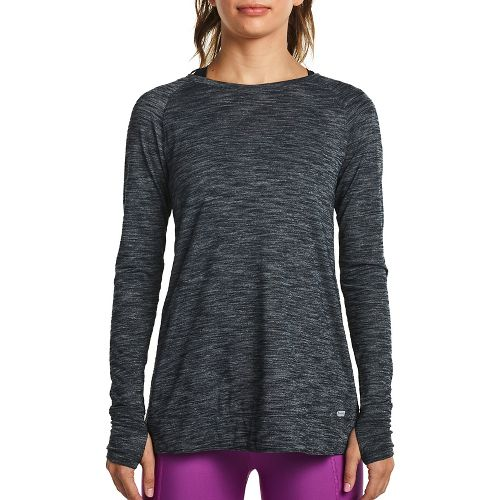Womens Saucony Carefree Long Sleeve Technical Tops - Carbon XS