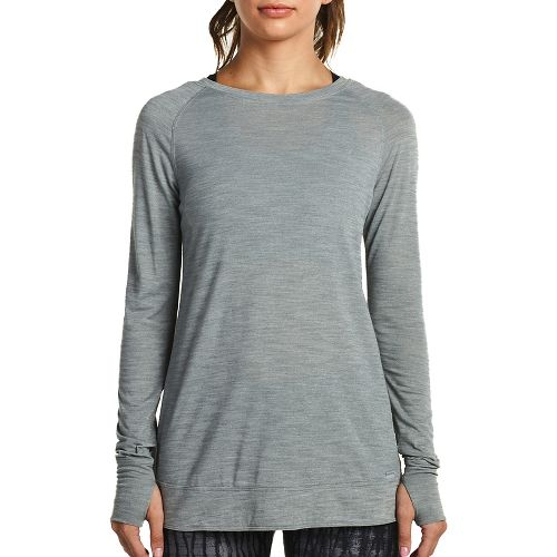 Womens Saucony Carefree Long Sleeve Technical Tops - Heather Grey M