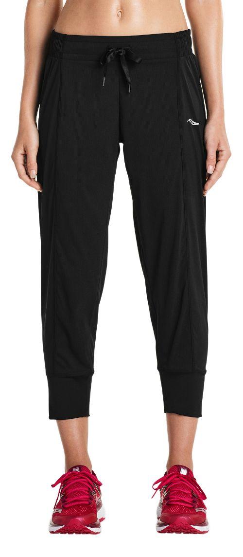 Womens Saucony City Capris Pants - Black 1X
