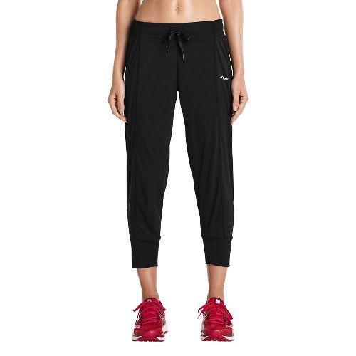 Womens Saucony City Capris Pants - Black XS