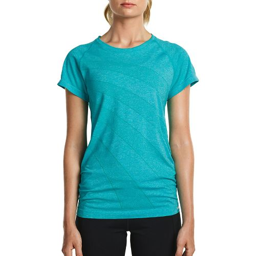 Womens Saucony Dash Seamless Short Sleeve Technical Tops - Barbados L