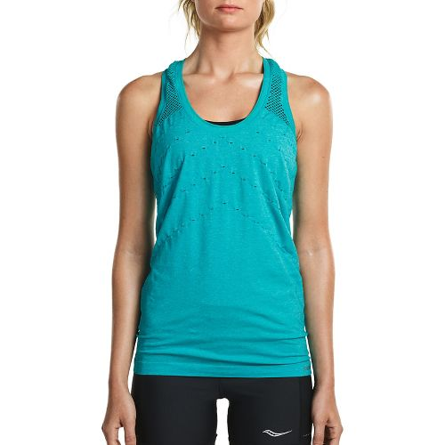 Womens Saucony Dash Seamless Sleeveless & Tank Tops Technical Tops - Barbados S