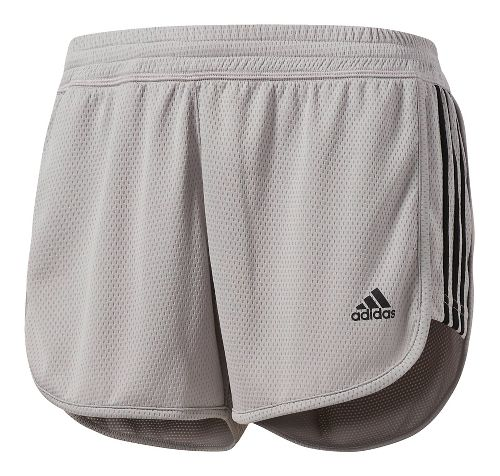 Womens adidas 3-Stripes Dash Knit Shorts - Grey S
