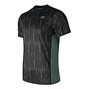 Mens New Balance Accelerate Graphic Top Short Sleeve Technical Tops
