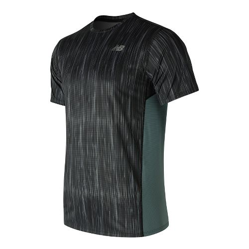 Mens New Balance Accelerate Graphic Top Short Sleeve Technical Tops - Typhoon Print XL