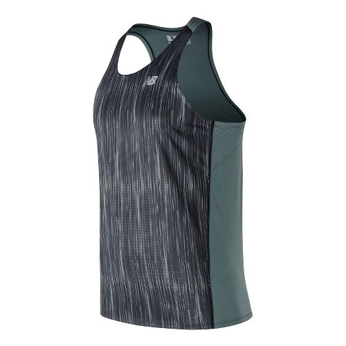 Mens New Balance Accelerate Graphic Singlet Sleeveless & Tank Technical Tops - Typhoon Print S