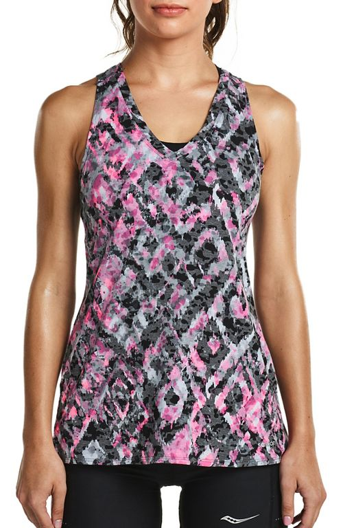 Womens Saucony Daybreak Sleeveless & Tank Tops Technical Tops - Black S