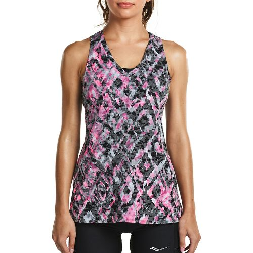Womens Saucony Daybreak Sleeveless & Tank Tops Technical Tops - Black XL