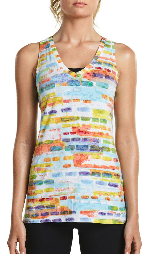 Womens Saucony Daybreak Sleeveless & Tank Tops Technical Tops - White L