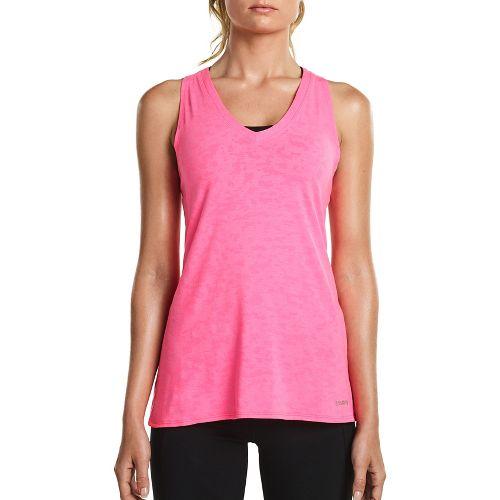 Womens Saucony Daybreak Sleeveless & Tank Tops Technical Tops - VIZiPRO Pink L