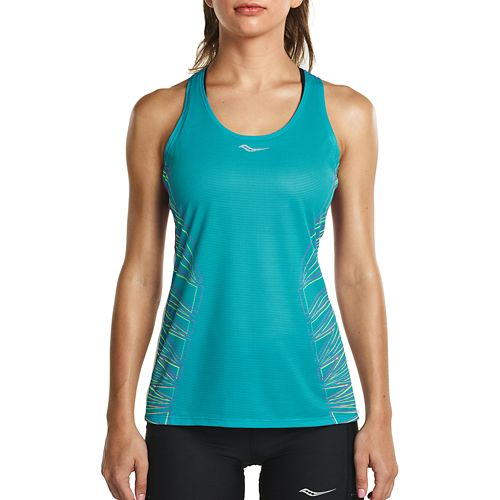 Womens Saucony Endorphin Singlet Sleeveless & Tank Tops Technical Tops - Barbados L