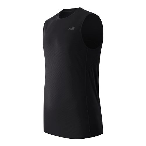 Mens New Balance Accelerate Sleeveless & Tank Technical Tops - Black M