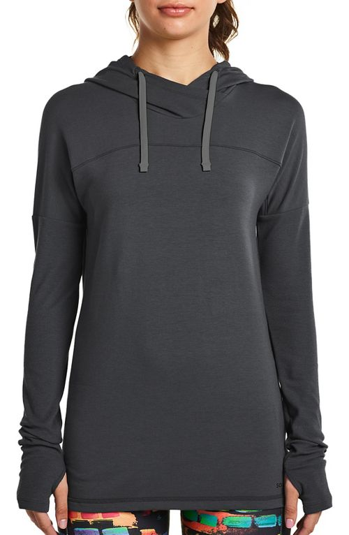 Womens Saucony Evolution Hoodie Half-Zips & Hoodies Technical Tops - Carbon XS