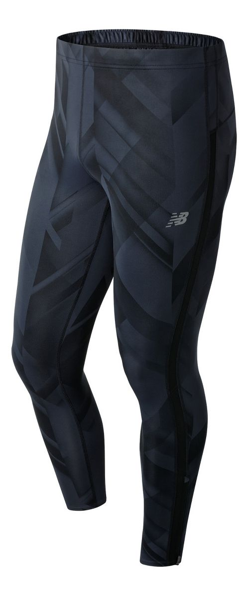 Mens New Balance Accelerate Printed Compression Tights - Black Print XXL