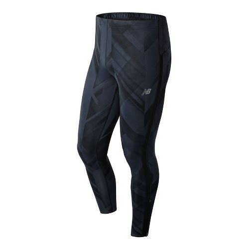 Mens New Balance Accelerate Printed Compression Tights - Black Print S
