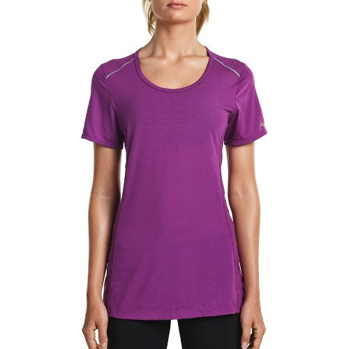 Womens Saucony Freedom Short Sleeve Technical Tops - Dahlia L