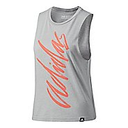 Womens Adidas Adi Script Muscle Sleeveless & Tank Tops Technical Tops
