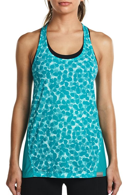 Womens Saucony Freedom Sleeveless & Tank Tops Technical Tops - Barbados S