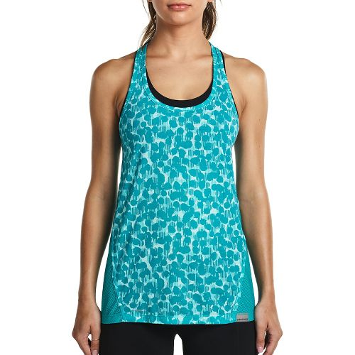 Womens Saucony Freedom Sleeveless & Tank Tops Technical Tops - Barbados L