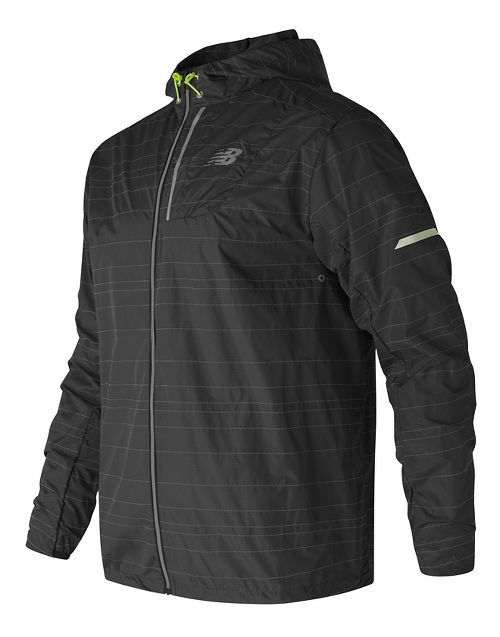 Mens New Balance Reflective Lite Packable Running Jackets - Black S