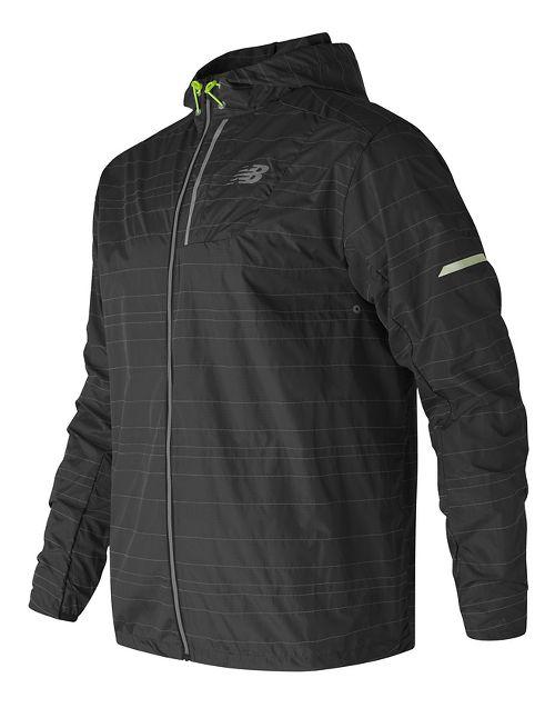 Mens New Balance Reflective Lite Packable Running Jackets - Black XL