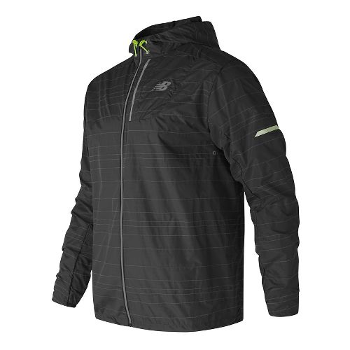 Mens New Balance Reflective Lite Packable Running Jackets - Black L