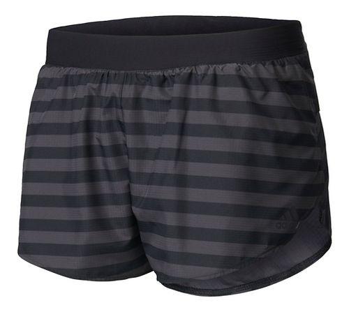 Womens Adidas Adizero Splits Shorts - Utility Black L