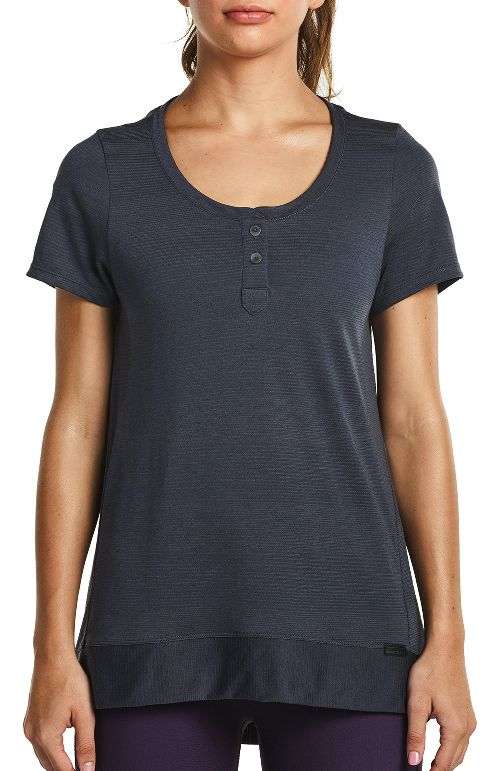 Womens Saucony Lighthearted Short Sleeve Technical Tops - Carbon M