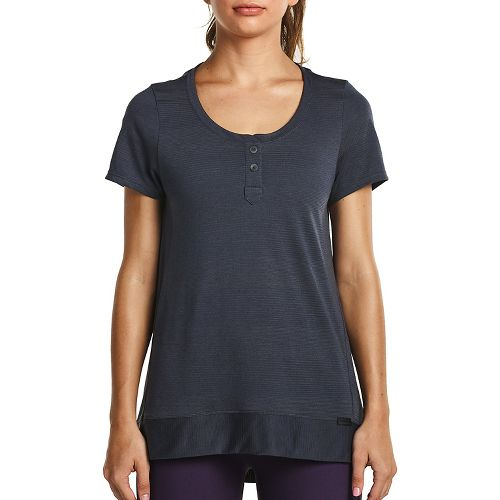 Womens Saucony Lighthearted Short Sleeve Technical Tops - Carbon L