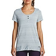 Womens Saucony Lighthearted Short Sleeve Technical Tops