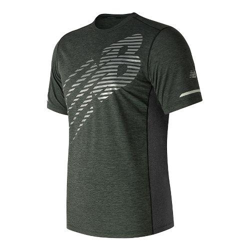 Mens New Balance Viz Short Sleeve Technical Tops - Black S
