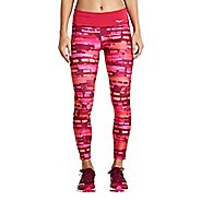 Womens Saucony Scoot Crop Tights - Red Wine 1X
