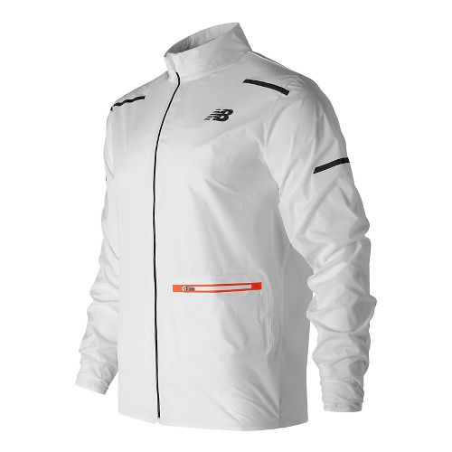 Mens New Balance Precision Run Running Jackets - White M