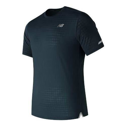 Mens New Balance D2D Run Short Sleeve Technical Tops - Supercell L