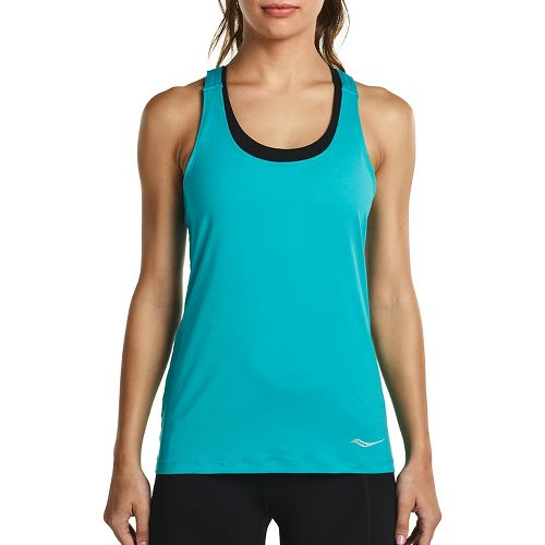 Womens Saucony Strider Sleeveless & Tank Tops Technical Tops - Barbados L